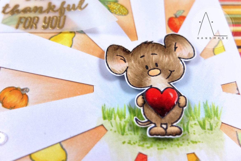 AL handmade - A Very Thankful Mouse