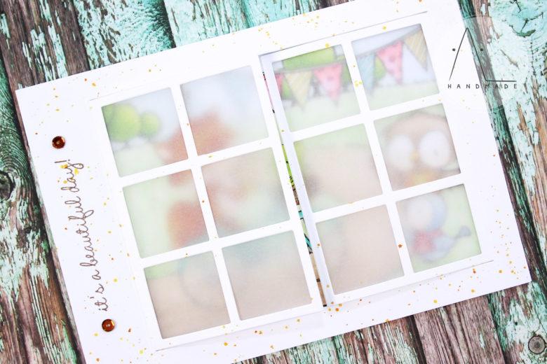 AL handmade - Happy trails window card