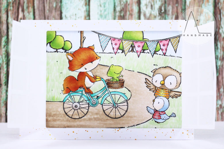 AL handmade - Happy trails window card
