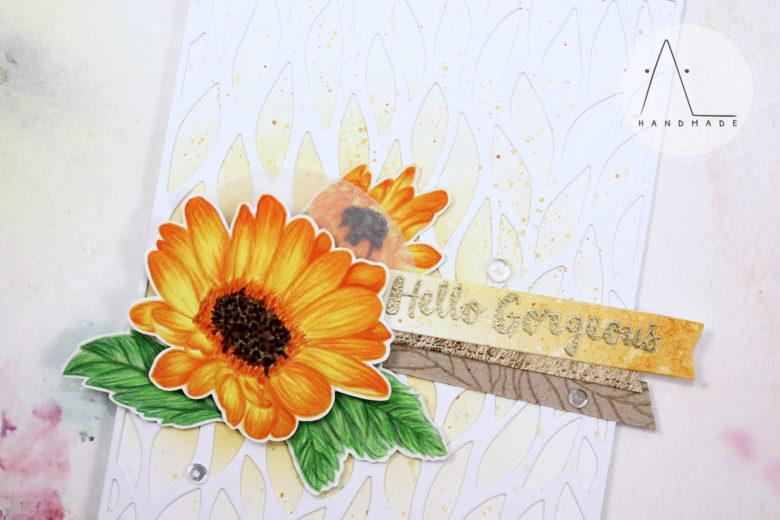 AL handmade - No-line coloring: Daisies greetings