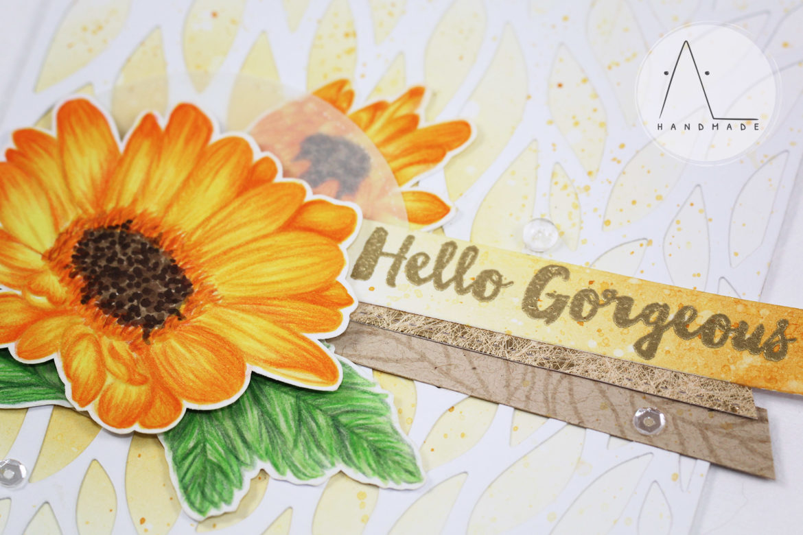 AL handmade - No-line coloring: Daisies greetings
