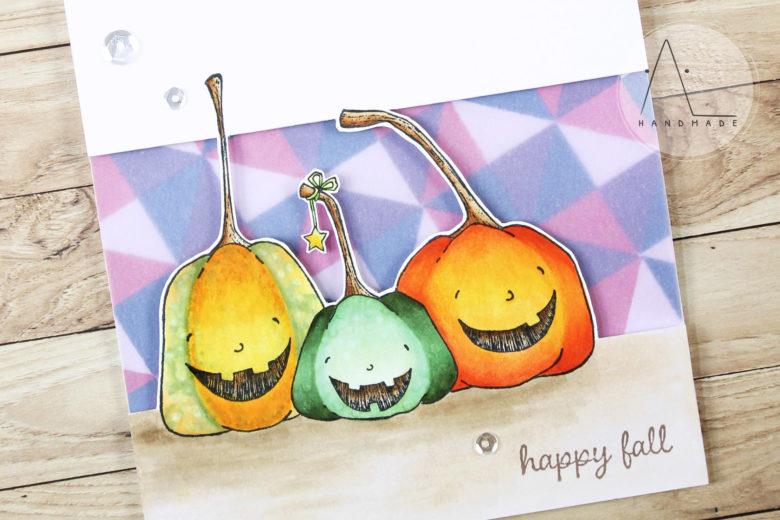 AL handmade - Three happy pumpkins