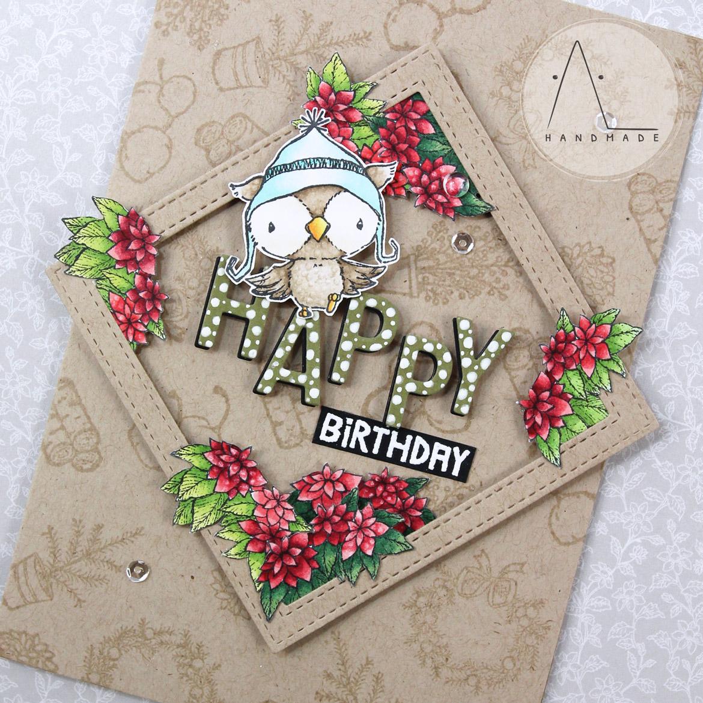AL handmade - Birthday Poinsettias