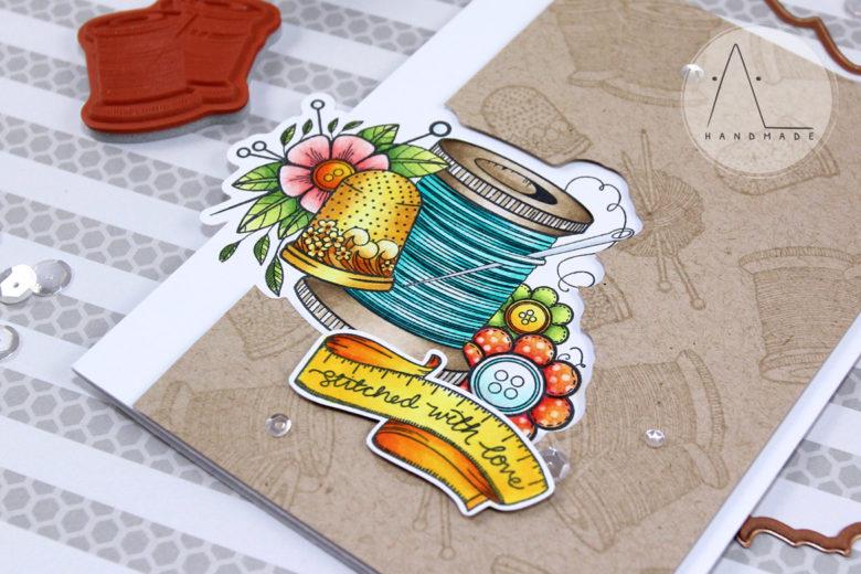 AL handmade - Sew Handmade Card