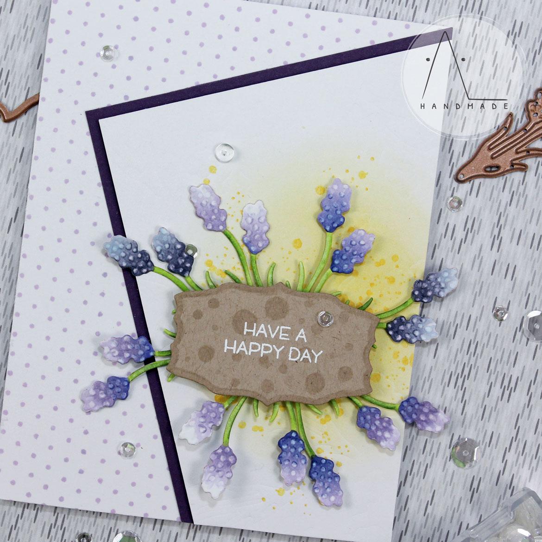 AL handmade - Spellbinders - Lavender Accents with Eau de Lavande Label Etched Dies