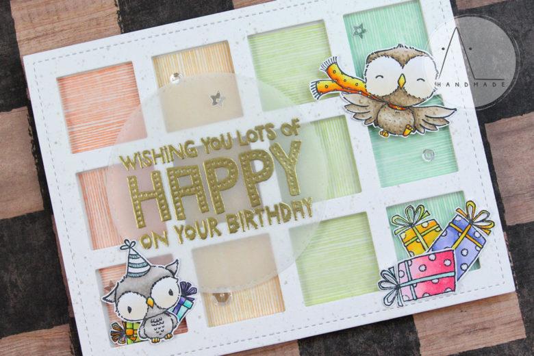 AL handmade - Purple Onion Designs - Wishing you lots of happy on your birthday