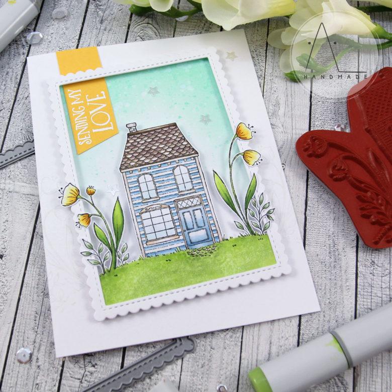 AL handmade - Purple Onion Designs - Sending my Love - Spread Kindness collection