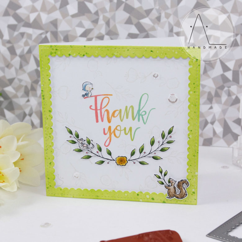 AL handmade - Purple Onion Designs - Thank You Floral End Notes