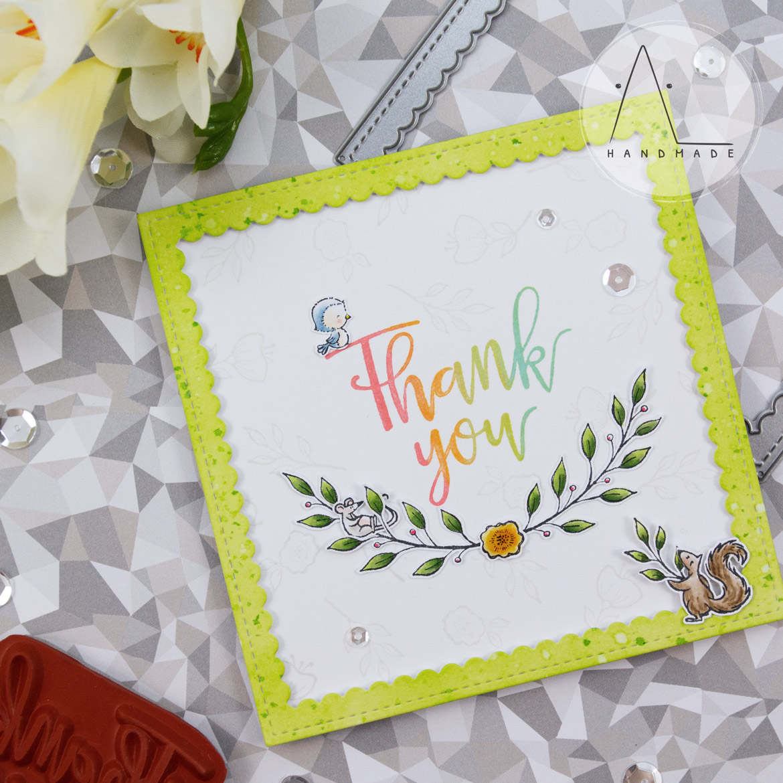 AL handmade - Purple Onion Designs - Thank You Floral End Notes
