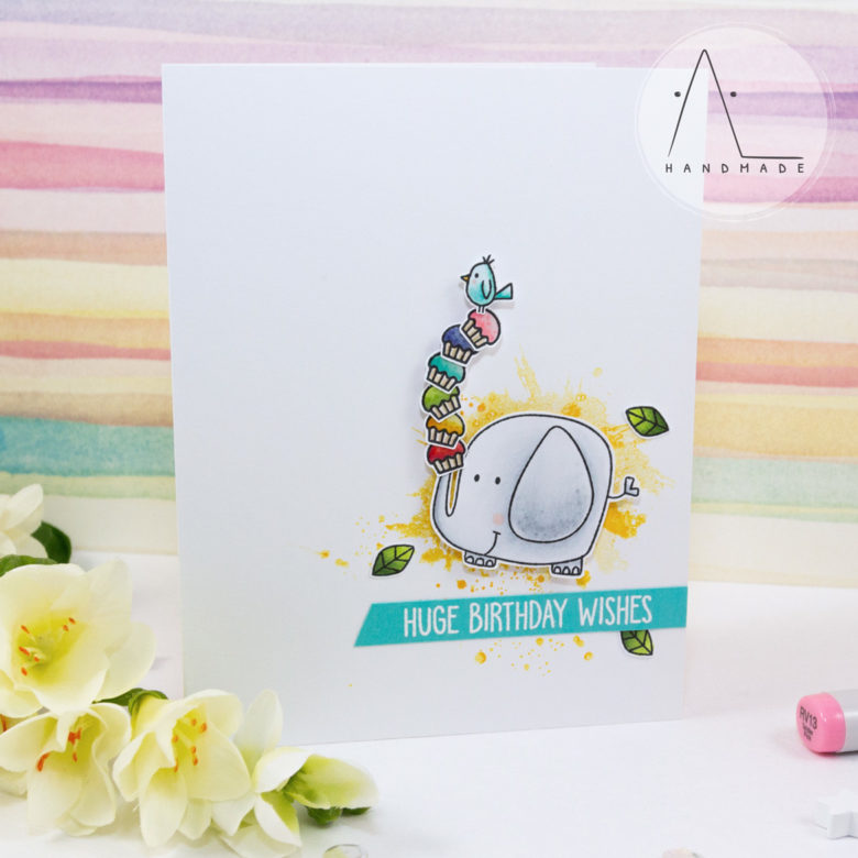 AL handmade - My Favorite Things - Huge Birthday Wishes