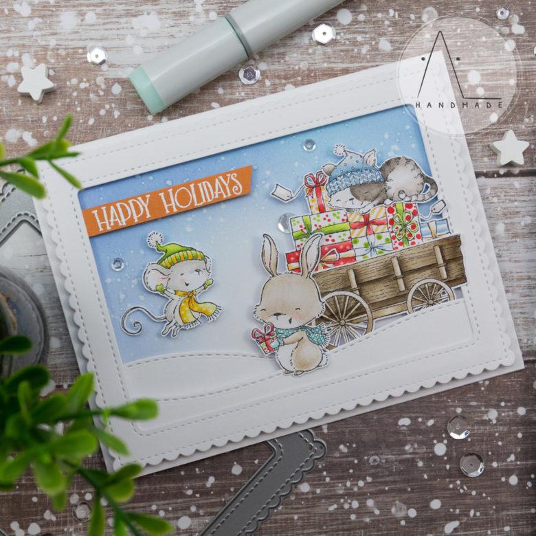 AL handmade - Purple Onion Designs - Happy Holidays - Mistletoe Farm Collection