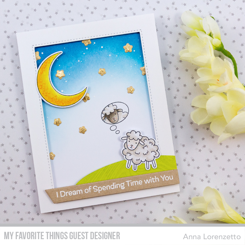 AL handmade - My Favorite Things and Friends - Over the moon for Ewe