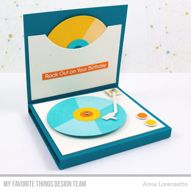 AL handmade - My Favorite Things DT - Turntable Die-namics and For the Record Stamp Set