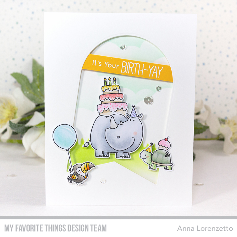 AL handmade - My Favorite Things DT - Birth-Yay Stamp Set and Tag Builder Blueprints 7 Die-namics