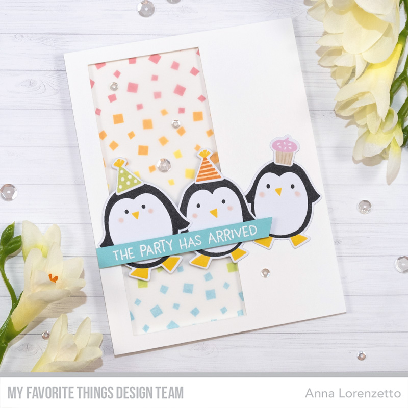 AL handmade - My Favorite Things DT - WSC 425 - Party Penguins stamp set