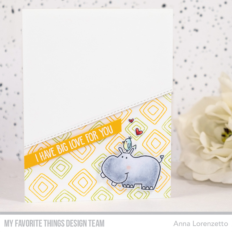 AL handmade - My Favorite Things DT - WSC 426 - Safari Friends stamp set