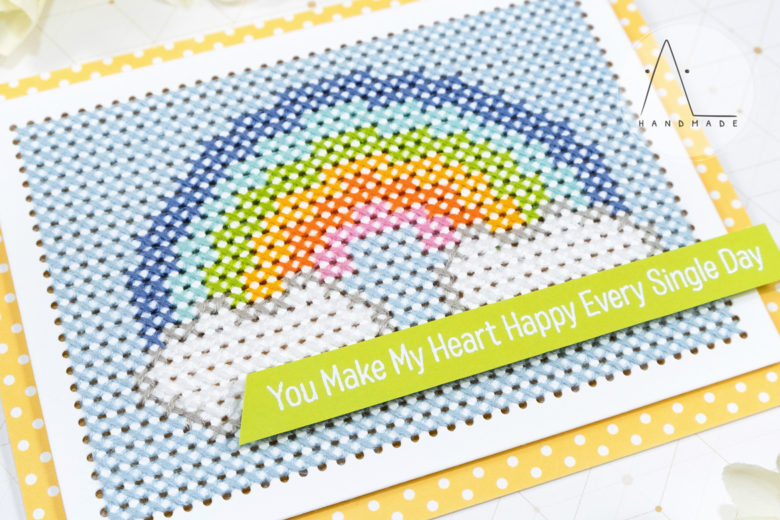 AL handmade - Stitched with Love - Cross-Stitch Rectangle Die-namics