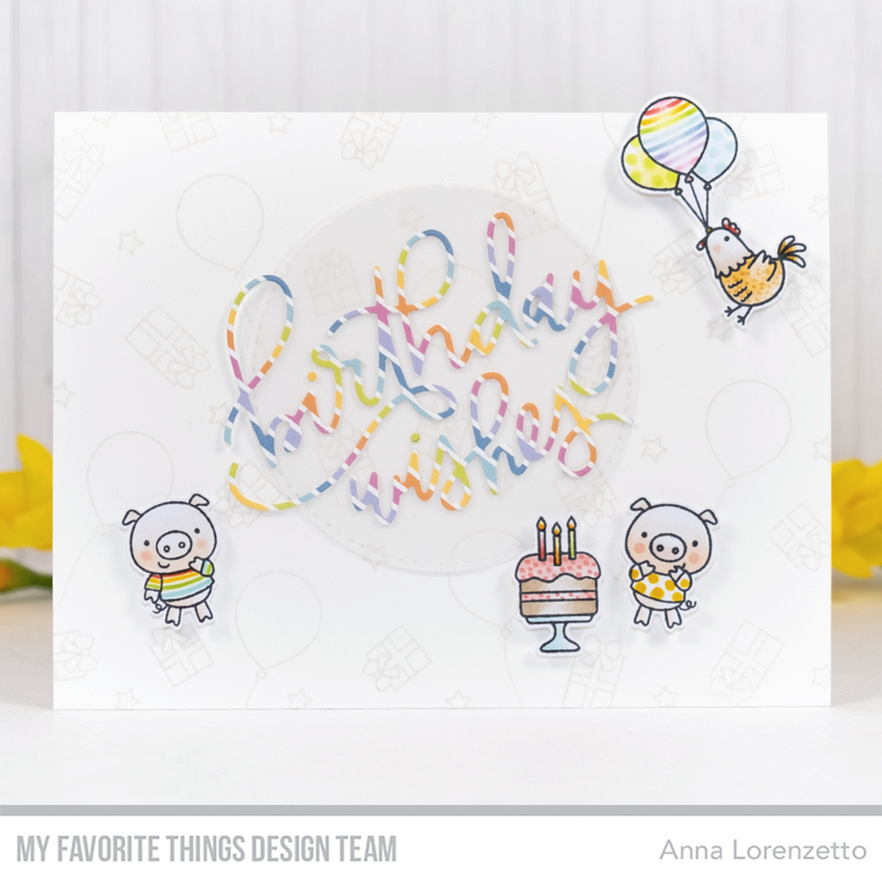 AL handmade - My Favorite Things DT - The Birthday Project ROYGBIV - Birthday Wishes Die-namics