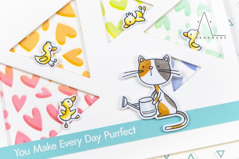 AL handmade - My Favorite Things DT - WSC 429 - Purrfect Friends stamp set