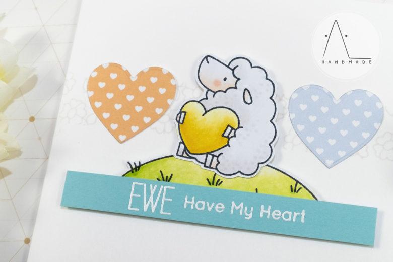 AL handmade - My Favorite Things DT - WSC 430 - BB Ewe Are the Best stamp set detail