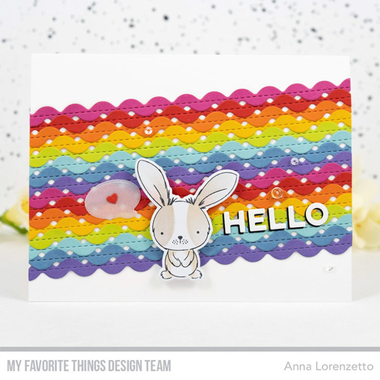 AL handmade - My Favorite Things DT - Sweetest Somebunny and Stitched Ric Rac Die-namics