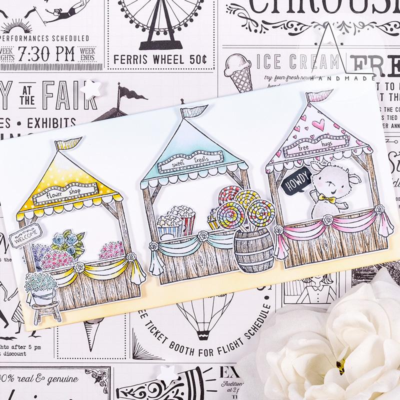 AL handmade - Purple Onion Designs DT - Sunny Meadow Fair - Billy and Fair Booth