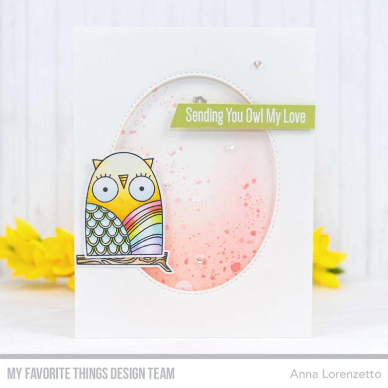 AL handmade - My Favorite Things DT - WSC 433 - Owl my Love stamp set