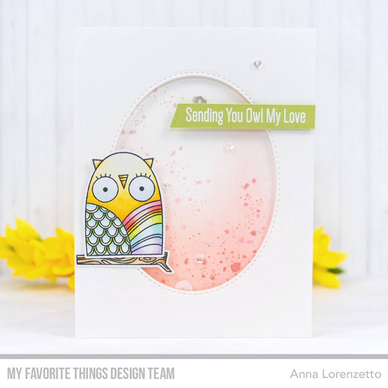 AL handmade - My Favorite Things DT - WSC 433 - Owl my Love stamp set