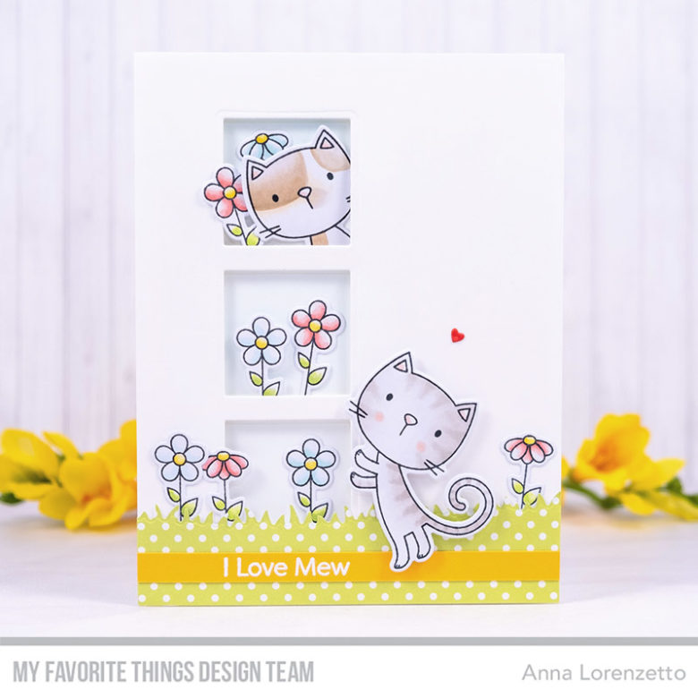 AL handmade - My Favorite Things DT - Purr-fect stamp set and Square Trio Shaker Window Die-namics