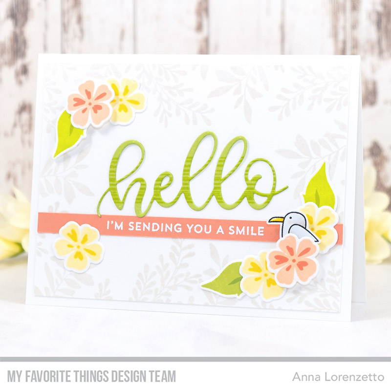 AL handmade - My Favorite Things DT - Tropical Flowers stamp set and Die-namics