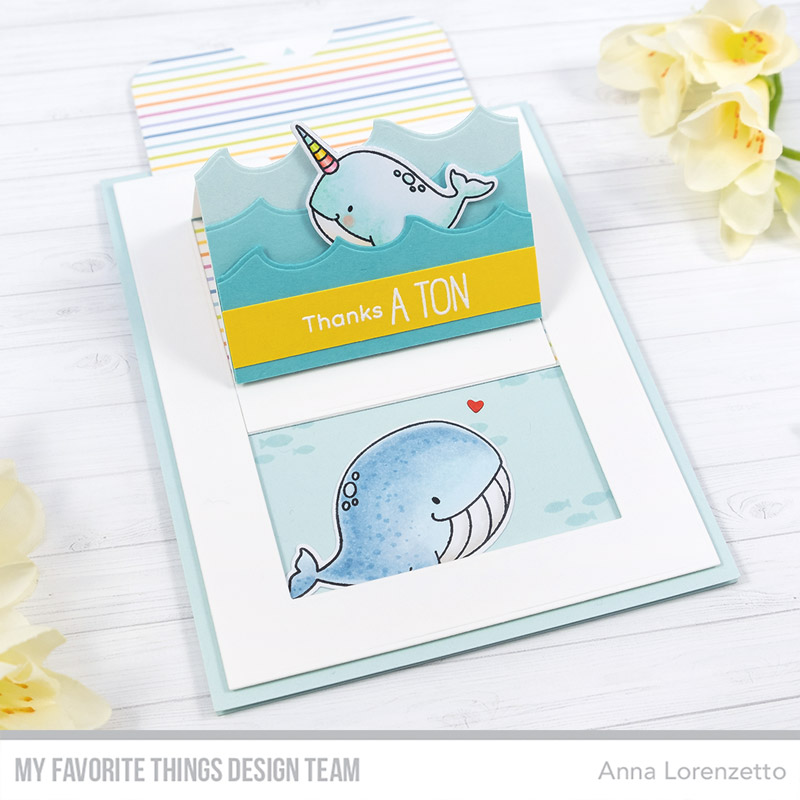 AL handmade - My Favorite Things DT - BB Friends with Fins and Slider Surprise Die-namics