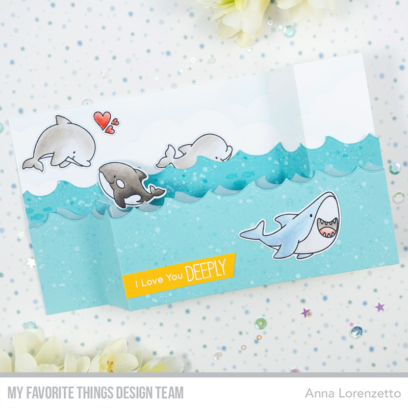 AL handmade - My Favorite Things DT - BB Friends with Fins and Pop-Up Wiper Card Components Die-namics