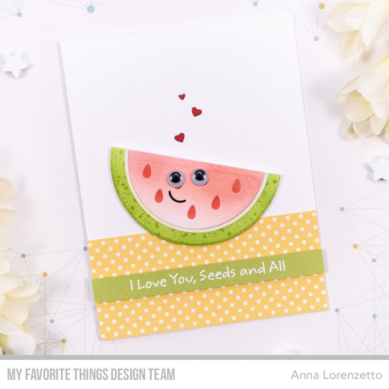 AL handmade - My Favorite Things DT - Watermelon Slice Die-namics