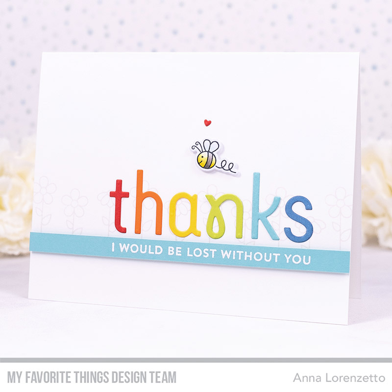 AL handmade - My Favorite Things DT - Simply Thanks Die-namics and Greetings & Salutations stamp set