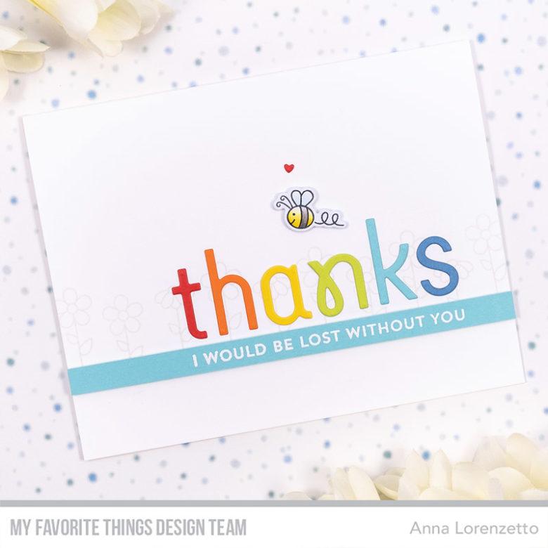 AL handmade - My Favorite Things DT - Simply Thanks Die-namics and Greetings & Salutations stamp set