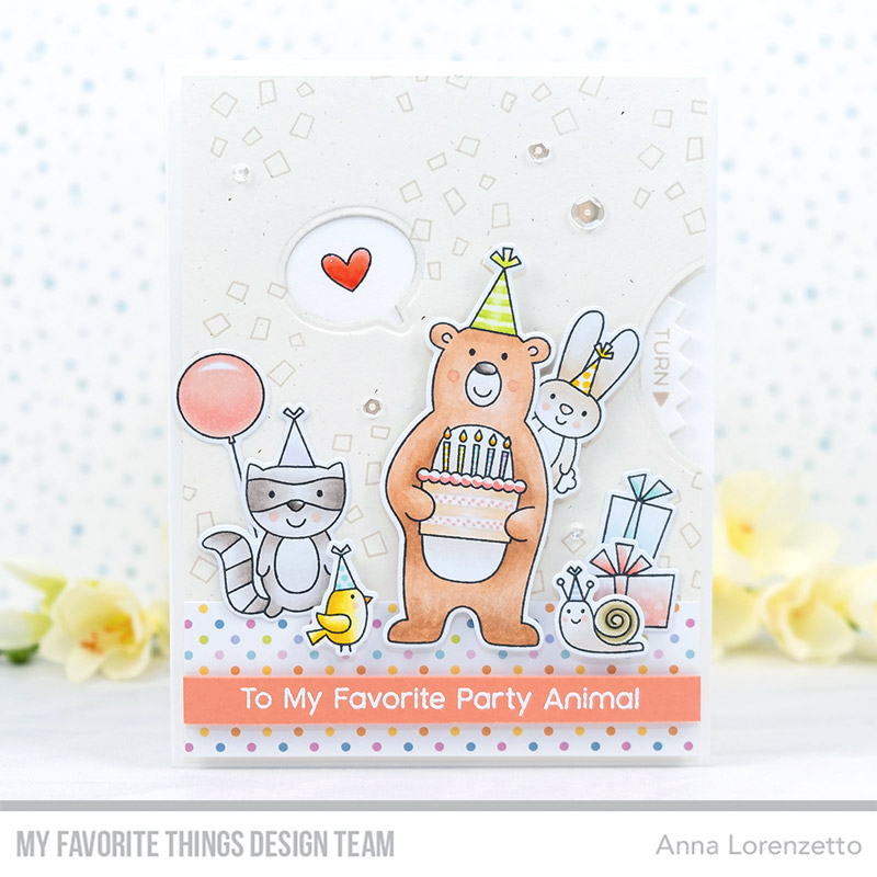 AL handmade - My Favorite Things DT - The Birthday Project Peek-a-Boo Surprise - Peek-a-Boo Wheel Die-namics