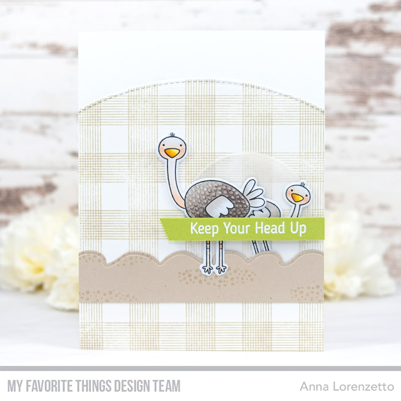 AL handmade - My Favorite Things DT - WSC 442 - Oh My Gostrich stamp set