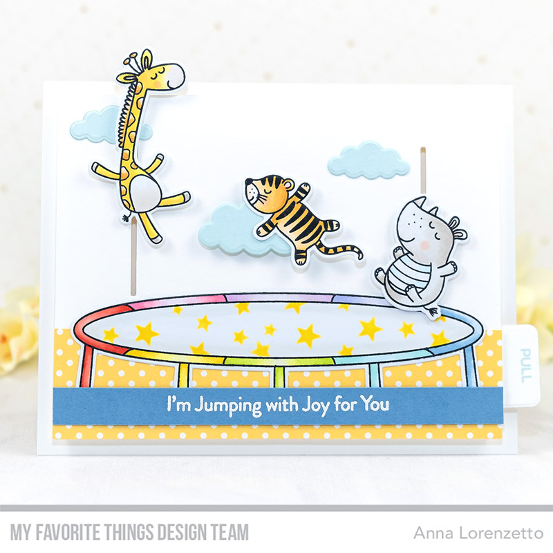 AL handmade - My Favorite Things DT - Hop, Flip, and a Jump stamp set and Interactive Up & Down Die-namics