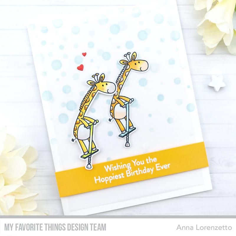 AL handmade - My Favorite Things DT - Jumping Giraffe Freebie Stamp Set