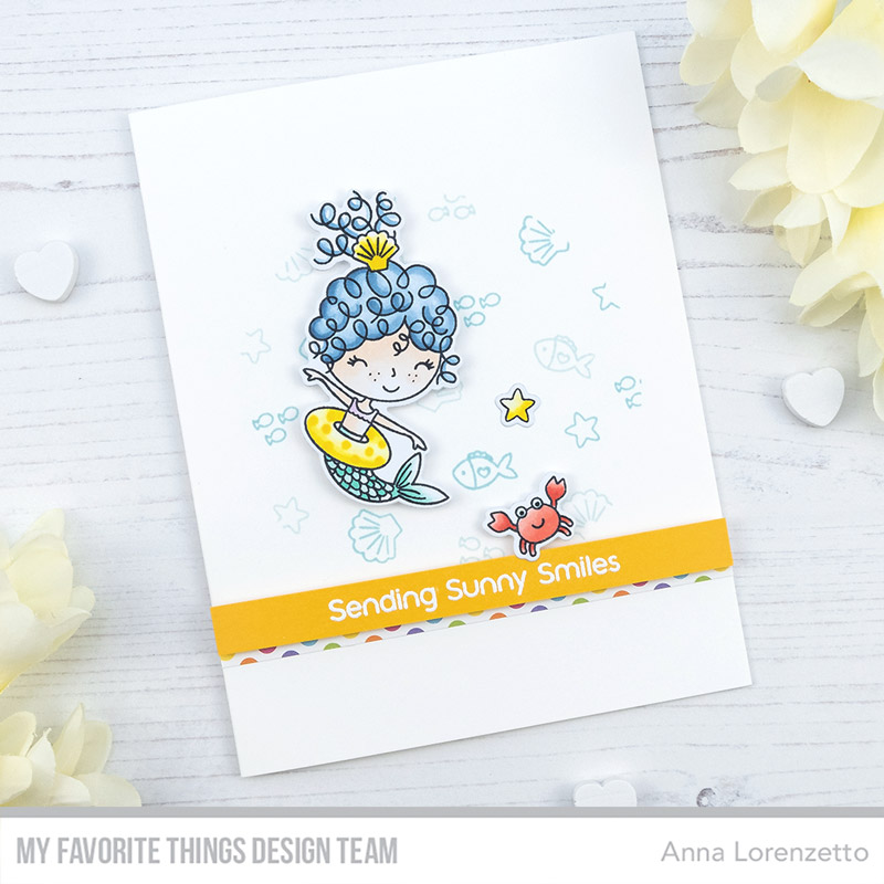 AL handmade - My Favorite Things DT - Mermaid for Each Other stamp set and Die-namics
