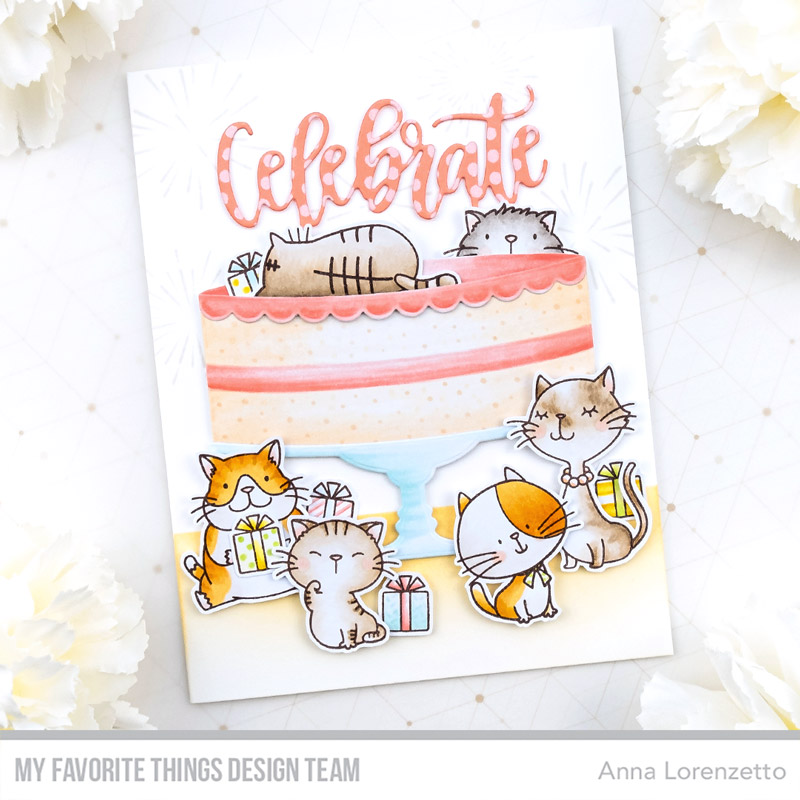 AL handmade - My Favorite Things DT - BB I Knead You and BB Cool Cat stamp set