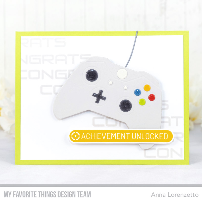 AL handmade - My Favorite Things DT - Game Controller Die-namics and Level Up stamp set