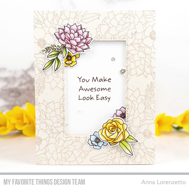 AL handmade - My Favorite Things DT - Fantasy Florals stamp set and Die-namics