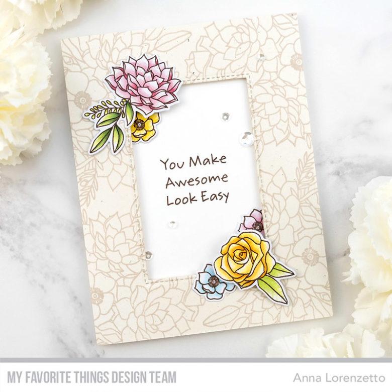AL handmade - My Favorite Things DT - Fantasy Florals stamp set and Die-namics