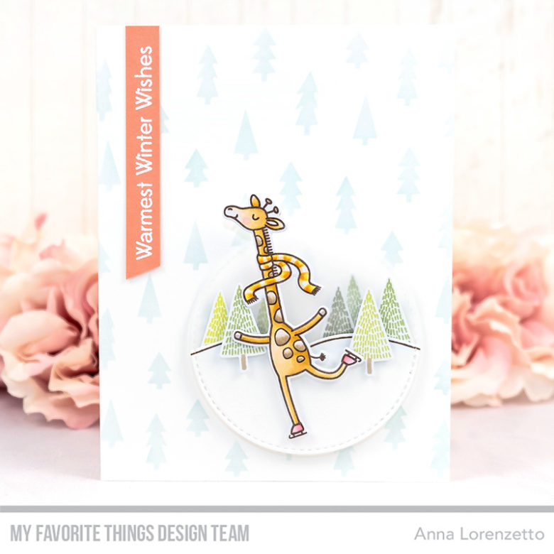 AL handmade - My Favorite Things DT - Giraffes on Ice stamp set and Die-namics