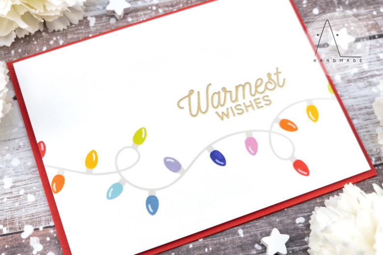 AL handmade - My Favorite Things DT - Party Lights stamp set