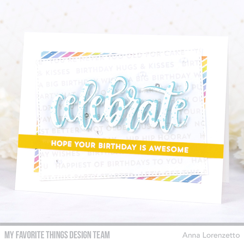 AL handmade - My Favorite Things DT - Bitty Birthday Wishes stamp set and Celebrate Die-namics