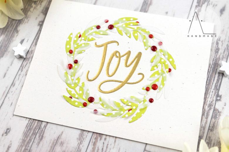 AL handmade - My Favorite Things DT - Joy Wreath stamp set and Joyful Wreath Die-namics
