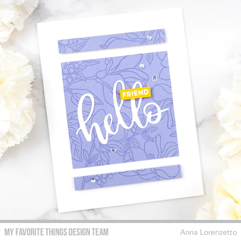 AL handmade - My Favorite Things DT - WSC 466 - Floral Focus stamp set