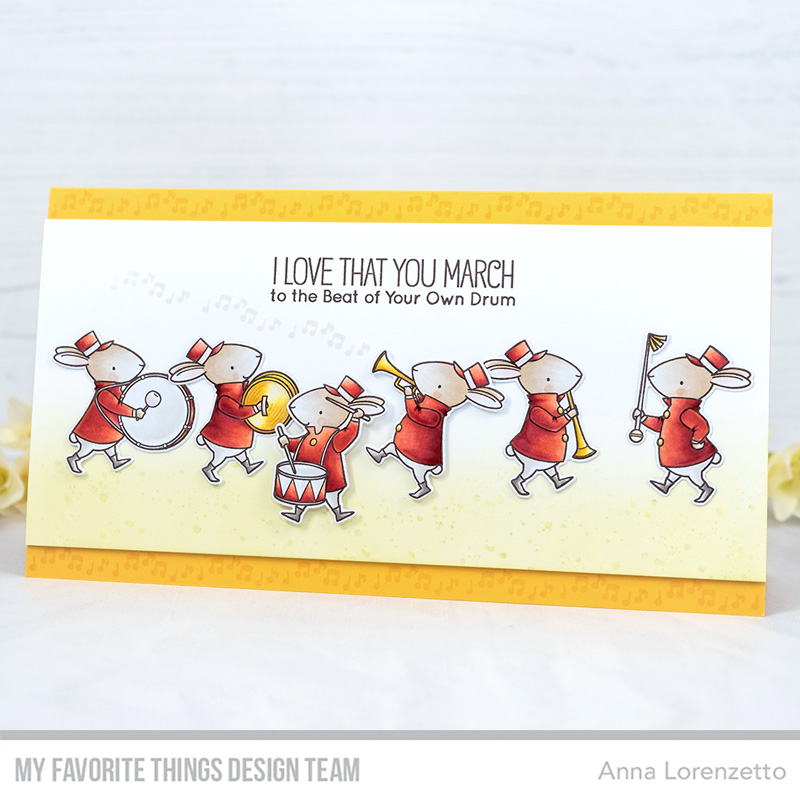 AL handmade - My Favorite Things DT - BB Strike Up the Band stamp set and Die-namics